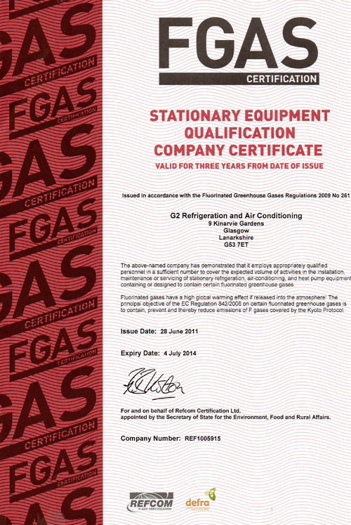 F Gas Certified